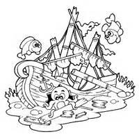 sunken ship sketch template