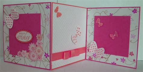make a card how to make handmade greeting card pink and white trendy