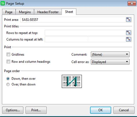 print dialog printable area height how to set print areas and print titles on a worksheet