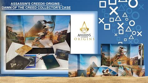 assassins creed origins collectors assassins creed origins dawn of the creed collector s case unboxing playstation info