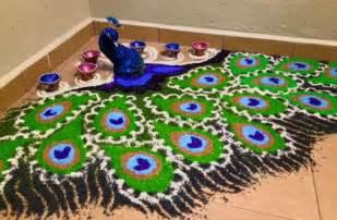 Paper Mache Flowers - peacock rangoli designs for diwali rangoli rangoli