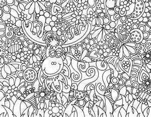 zendoodle coloring pages garden moose zendoodle from s zendoodle kreations www