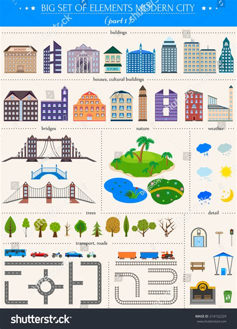 map design elements vector elements of the modern city design your own town map