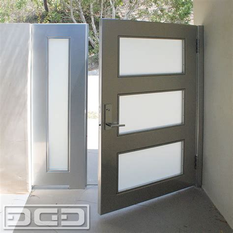 Steel Garage Entry Doors Contemporary Style Entry Gate In Glass Steel By Dynamic Garage Door