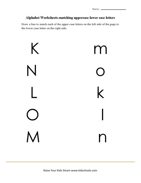 printable matching letters worksheets 7 best images of letter matching printables preschool