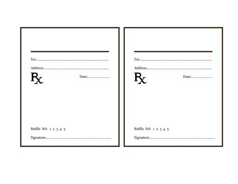 prescription form template word image gallery prescription template