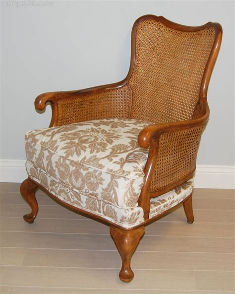 cane armchairs pair of french cane bergere armchairs antiques atlas