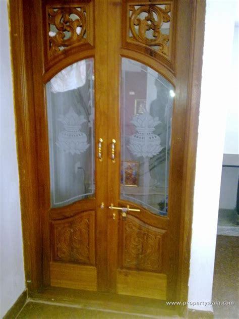 wood door  glass  pooja room google search