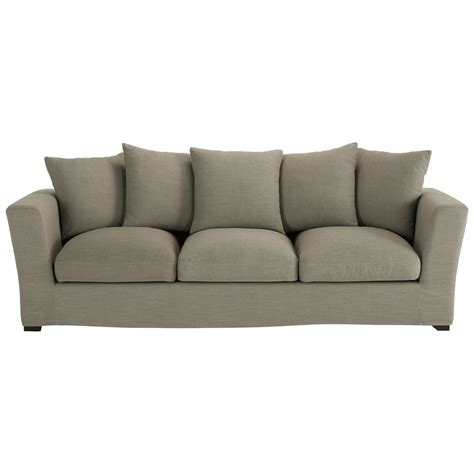 4 seater fabric sofa 4 seater fabric sofa in grey bruxelles maisons du monde