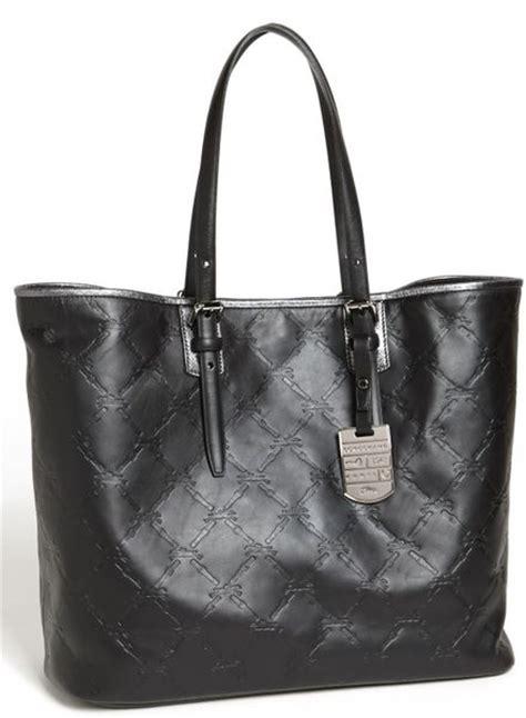 Longc Cuir Medium Black longch lm cuir medium leather tote in black black nickel lyst