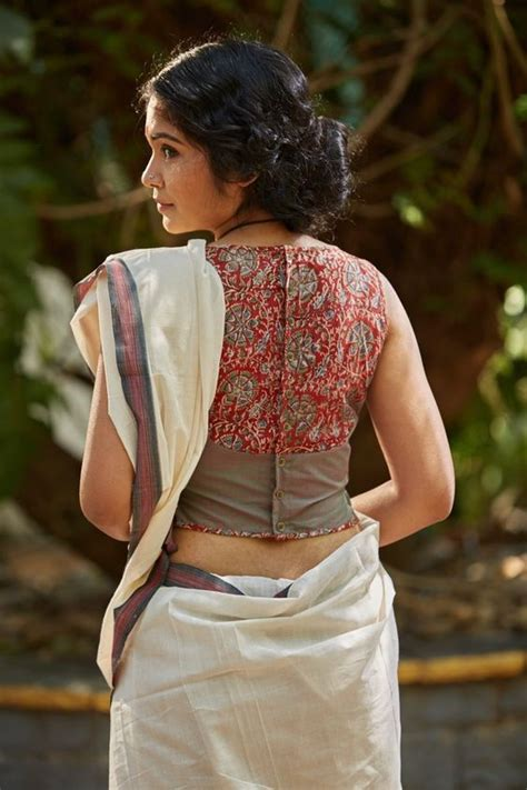 High Neck Blouse With Kerala Saree by 30 Best Kalamkari Blouse Designs Collections 2018