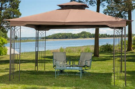 10 X 12 Patio Gazebo Gazebo 10 X 12 Regency Ii Patio Canopy With Mosquito Netting Ebay