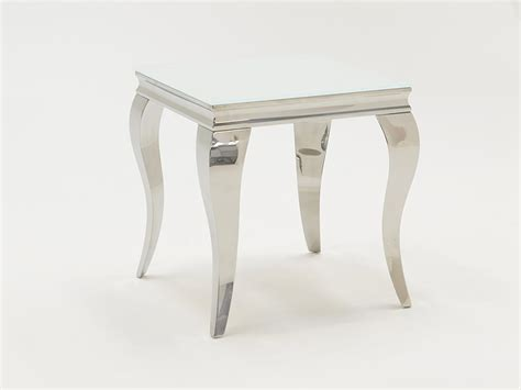 white and chrome desk louis 160cm white and chrome dining only