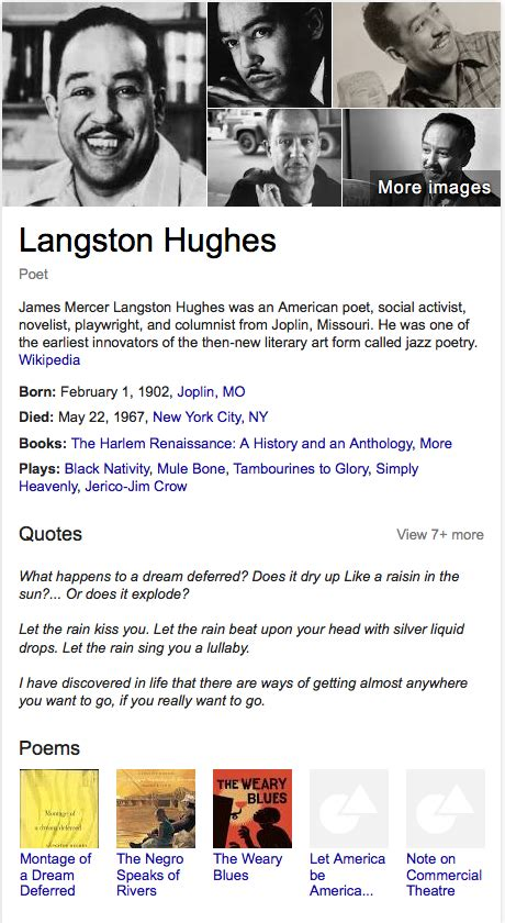 langston hughes biography timeline 54 famous black history month african americans
