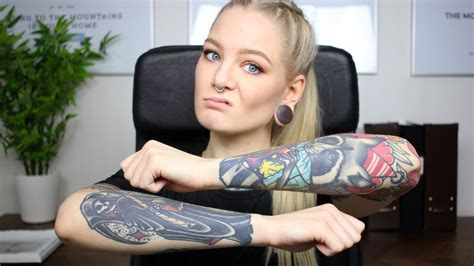 tattoo shop girl job visible tattoos vs employment youtube