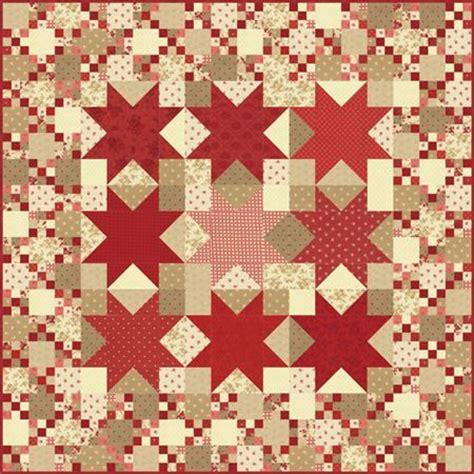 pattern paper hancock moda midwinter reds nantucket quilt kit 67 quot x 67 5 quot at