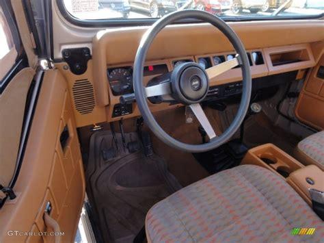 1995 Jeep Wrangler Interior Spice Beige Interior 1995 Jeep Wrangler Grande 4x4