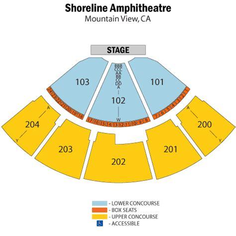 shoreline seating kenny chesney april 29 tickets mountain view shoreline