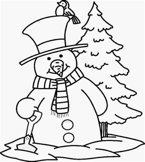 coloring pages christmas snowman snowman pictures to color free coloring pictures