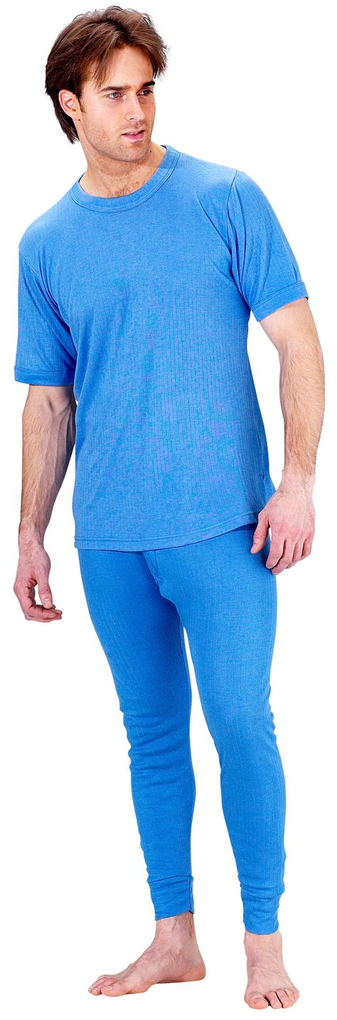 Longjohn Thermal thermal blue mens johns