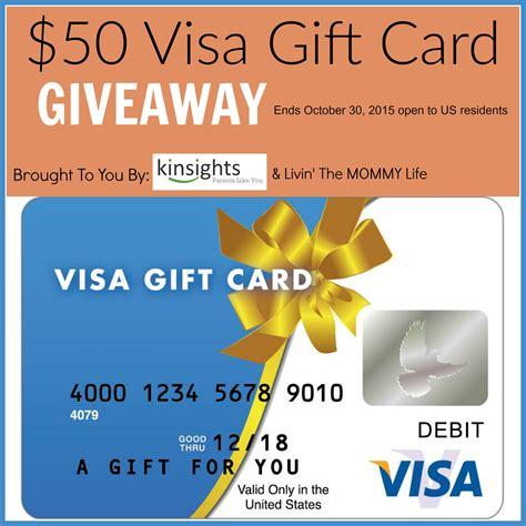 Visa Reward Gift Card - 50 visa gift card giveaway 10 30 tales from a southern mom
