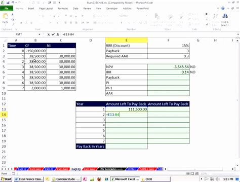 7 Excel Irr Template Exceltemplates Exceltemplates Npv Excel Template