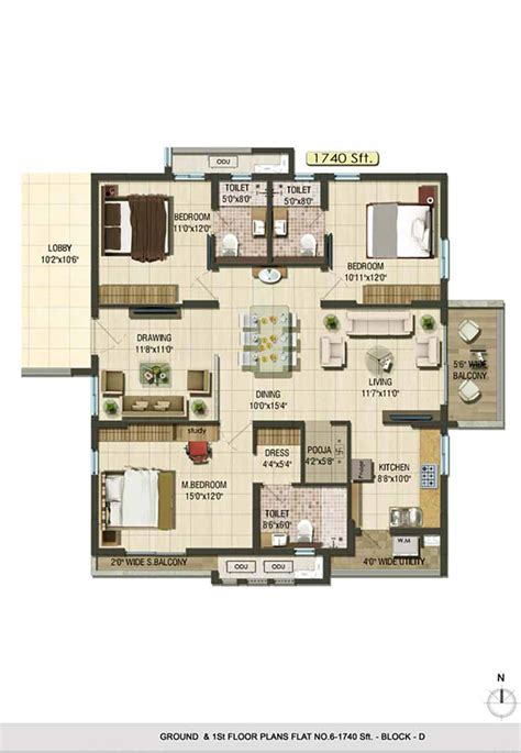 floor plans now available for the reserves gated community 3 bhk premium gated community apartments aparna cyberlife