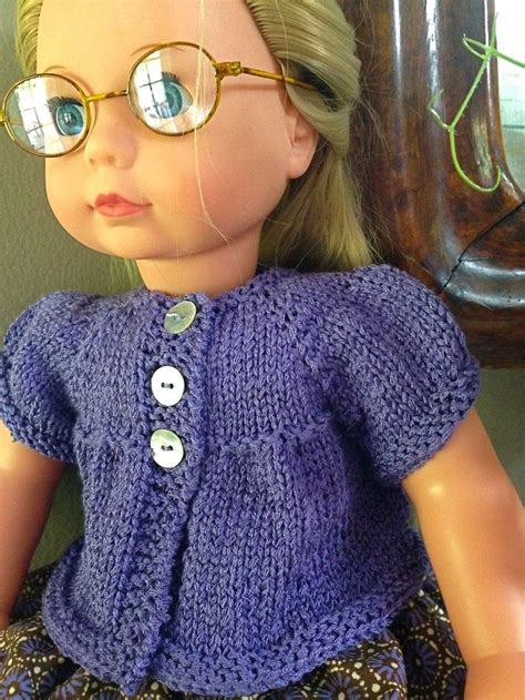 sleeve pattern pinterest a puffed sleeves cardigan for dolls free knitting