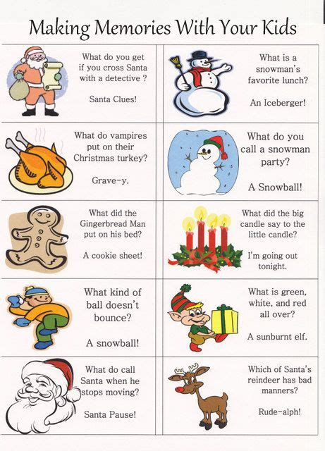 printable christmas joke cards 98 best lunch box notes images on pinterest lunch box