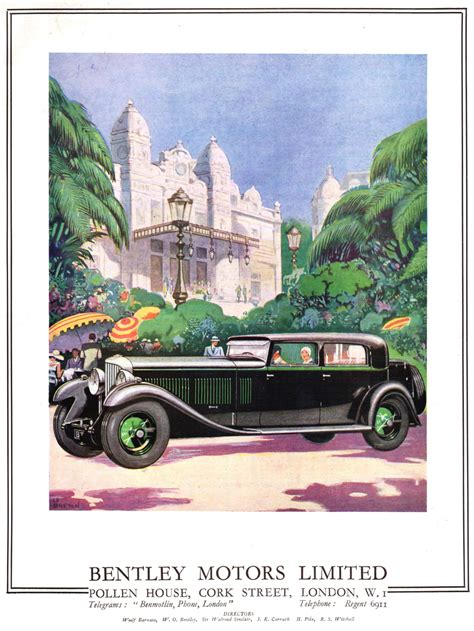 used bentley ad retro car ads bentley motors limited classics