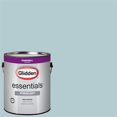 glidden duo 1 gal glb19 01e sea spray eggshell interior paint with primer glb19 01e the home