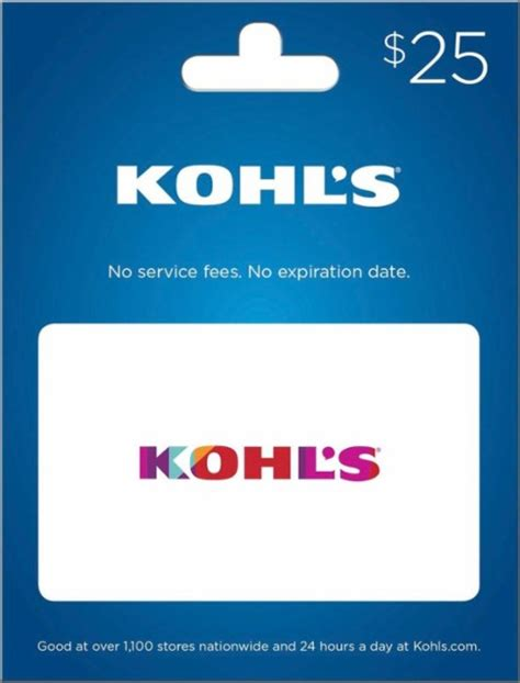 printable gift cards for kohls kohl s 25 gift card kohls s16 25 best buy