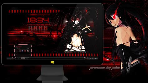 themes for windows 7 bleach tema para windows 7 anime black rock shooter by jebb 2014