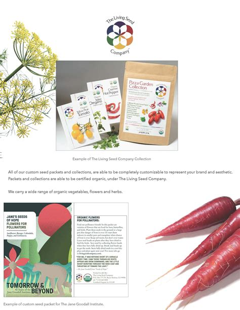 custom seed packets white label collections