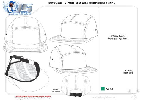 5 panel hat template we supply wholesale on custom 5 panel flatbrim caps