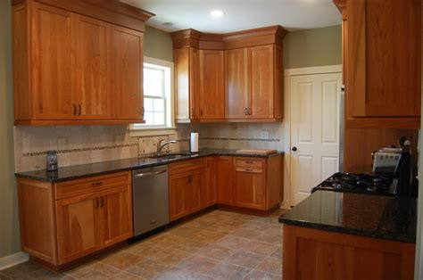 cherry cabinet kitchens custom handcrafted natural cherry shaker style
