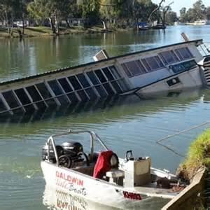 north river boats out of business historic paddle boat sinks in the murray river at mildura