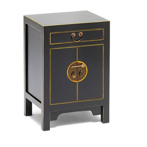 Small Storage Cabinet Black Style Storage Cabinet Bedside Table Candle And Blue