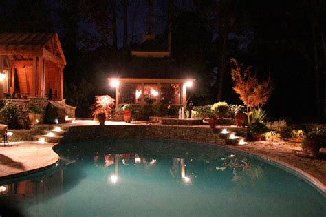 Pool Patio Lighting Outdoor Lighting Patio Pool Landscaping Atlanta