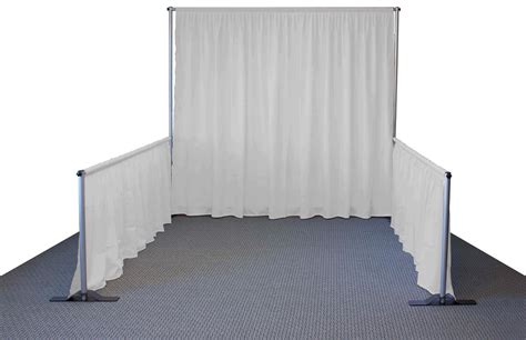 white pipe and drape trade show pipe and drape booth 10 w