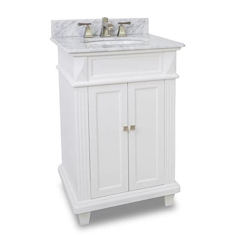 24 White Bathroom Vanity by Hardware Resources Douglas Single 24 Inch Transitional