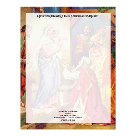 Nativity Letter Template Christmas Nativity Scene Wisemen Letterhead Zazzle