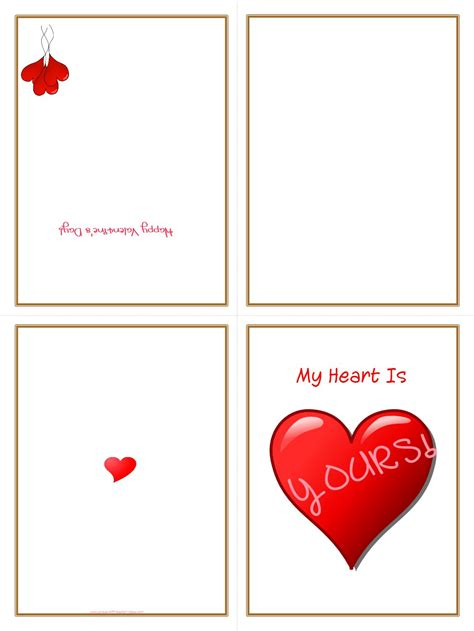 free printable valentines day cards for 7 best images of easy free printable greeting cards
