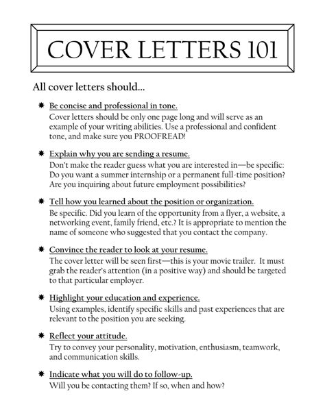 specific cover letter resume format for purpose