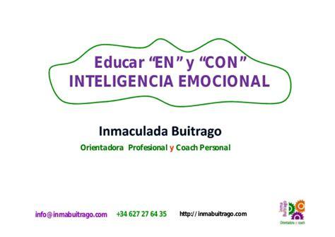 educar con inteligencia emocional charla educar en y con inteligencia emocional