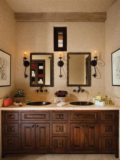 italian bathroom decor mediterranean master bathroom with dual sinks hgtv