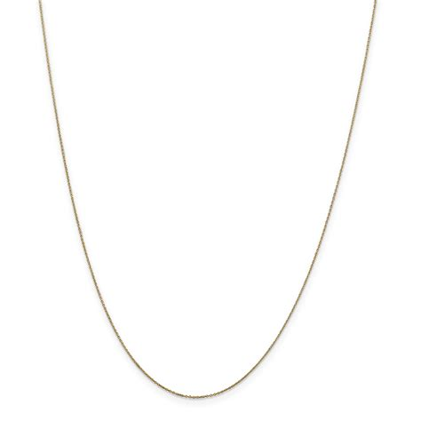 14k 6mm solid polished cable chain cable chains 14k 6mm solid d c cable chain