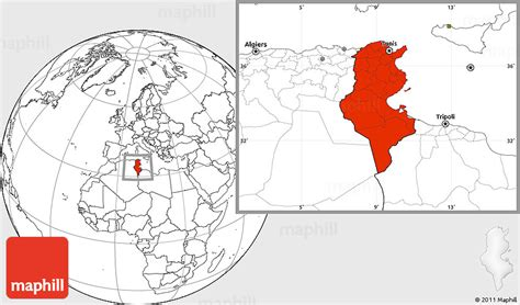 where is tunisia in the world map blank location map of tunisia