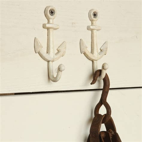 homart anchor wall hook cast iron white areohome