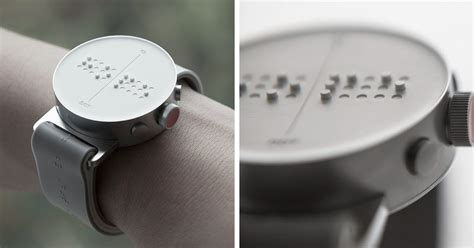 Blind Brail World S First Braille Smartwatch Lets Blind People Feel